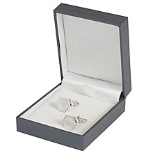 Buy Simon Carter for John Lewis Hexagonal Sterling Silver Mother of Pearl Cufflinks, Silver Online at johnlewis.com