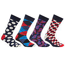 Buy Happy Socks Exclusive Sock Gift Box, One Size, Pack of 4, Multi Online at johnlewis.com
