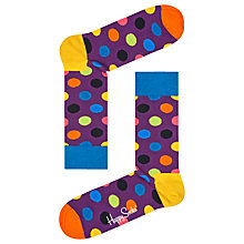Buy Happy Socks Big Dot Socks, One Size, Purple Online at johnlewis.com