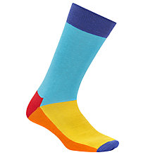 Buy Happy Socks Five Colour Socks, One Size, Blue/Multi Online at johnlewis.com