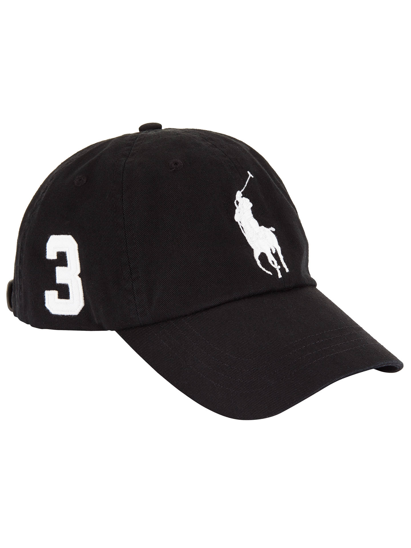 ad2648c0986aaf Buy Polo Ralph Lauren Big Pony Chino Baseball Cap, One Size, Black Online  at ...