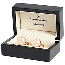 Buy Simon Carter for John Lewis Archive Paisley Cufflinks, Rose Gold Online at johnlewis.com