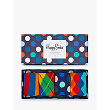 Buy Happy Socks Bright Pattern Socks, One Size, Pack of 4, Multi Online at johnlewis.com