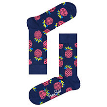 Buy Happy Socks Pineapple Socks, One Size, Navy Online at johnlewis.com