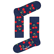 Buy Happy Socks Cherry Socks, One Size, Navy Online at johnlewis.com