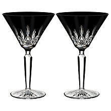 Buy Waterford Black Cut Crystal Martini Glass, Set of 2 Online at johnlewis.com