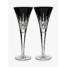 Buy Waterford 'Lismore Pops' Cut Crystal Toasting Flute, Set of 2, Black Online at johnlewis.com