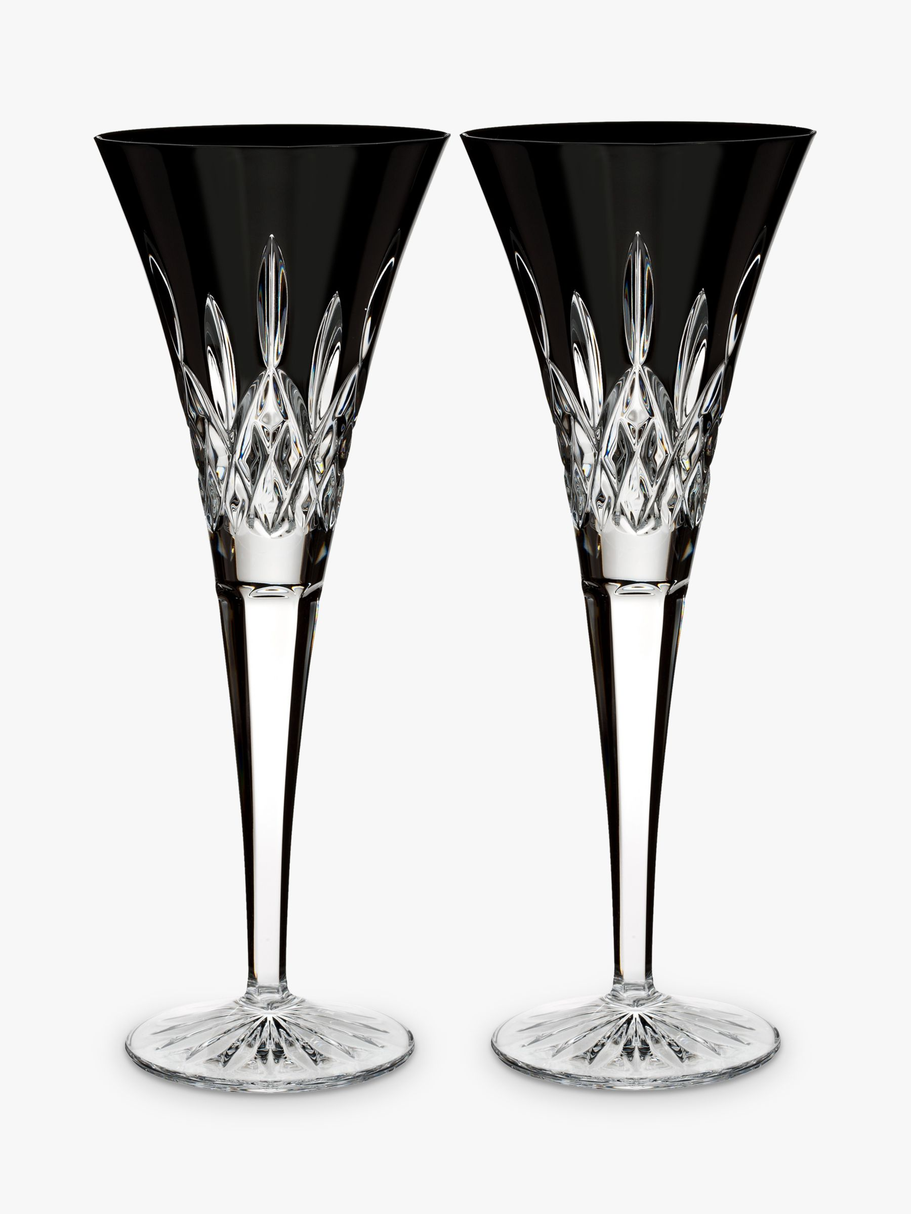 Waterford Waterford 'Lismore Pops' Cut Crystal Toasting Flute, Set of 2, 160ml, Black
