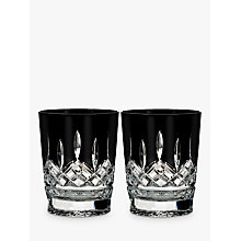 Buy Waterford Black Cut Crystal Tumbler, Set of 2 Online at johnlewis.com