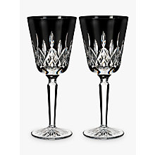 Buy Waterford Black Tall Cut Crystal Glass Goblet, Set of 2 Online at johnlewis.com