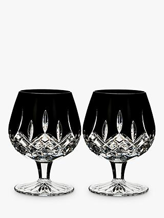 Waterford Black Cut Crystal Brandy Glass, Set of 2