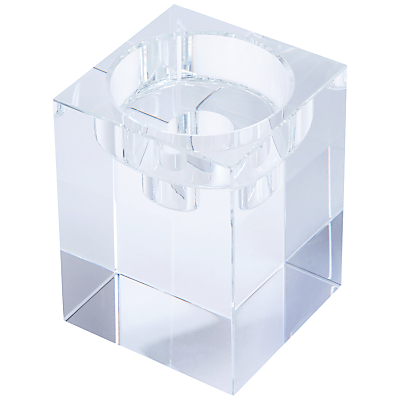 Dartington Crystal Combo Cube Candle Handler, Large, Clear