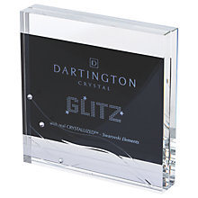 Buy Dartington Crystal Glitz Block Photo Frame, Clear Online at johnlewis.com