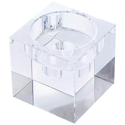 Dartington Crystal Combo Cube Candle Handler, Medium, Clear