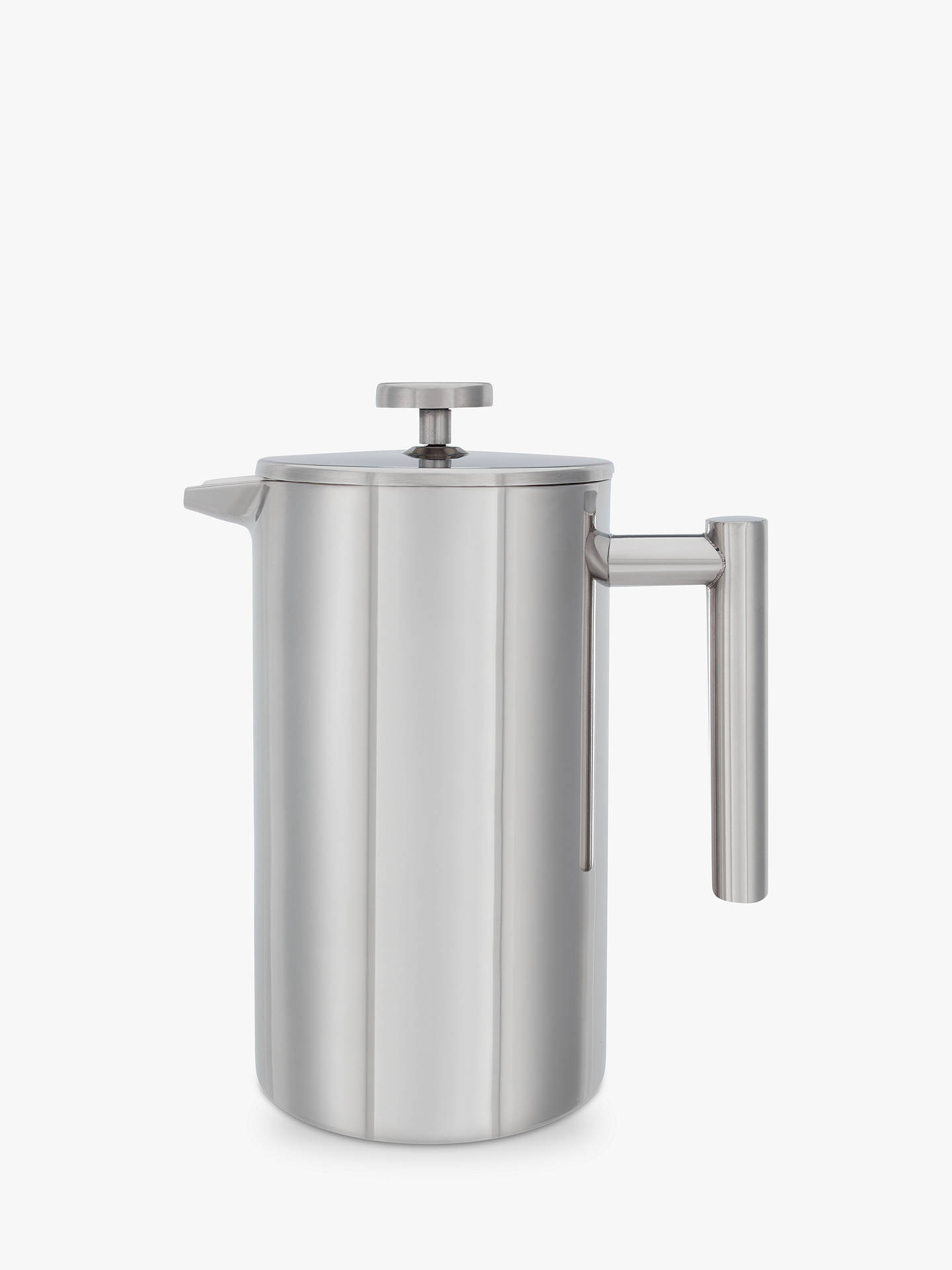 Buy John Lewis & Partners Double Wall Stainless Steel Cafetiere, 8 Cup, 1L Online at johnlewis.com