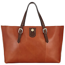 Buy Somerset by Alice Temperley Berkley Leather Tote Bag, Tan Online at johnlewis.com