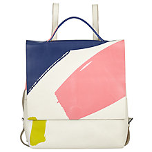 Buy Kin by John Lewis Laura Slater Leather Backpack, Multi Online at johnlewis.com