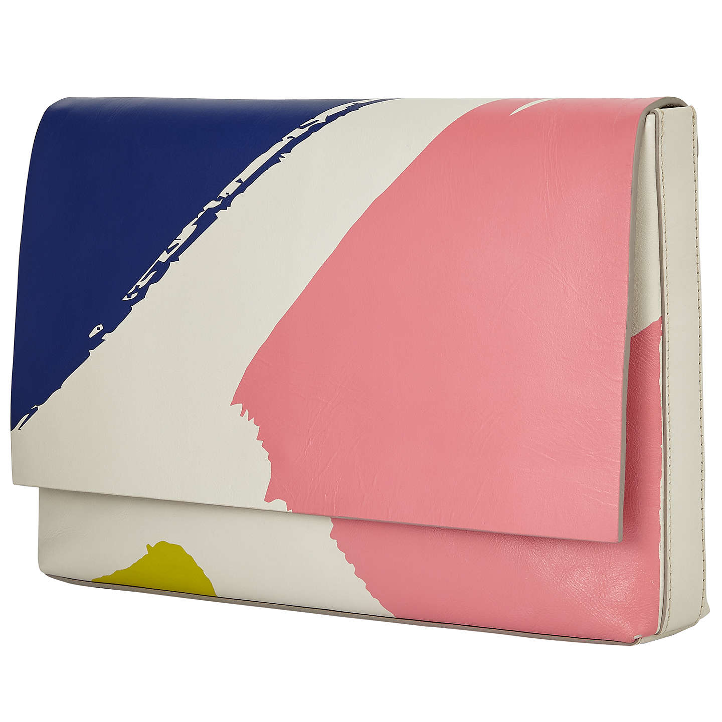 BuyKin by John Lewis Laura Slater Leather Clutch Bag, Multi Online at johnlewis.com