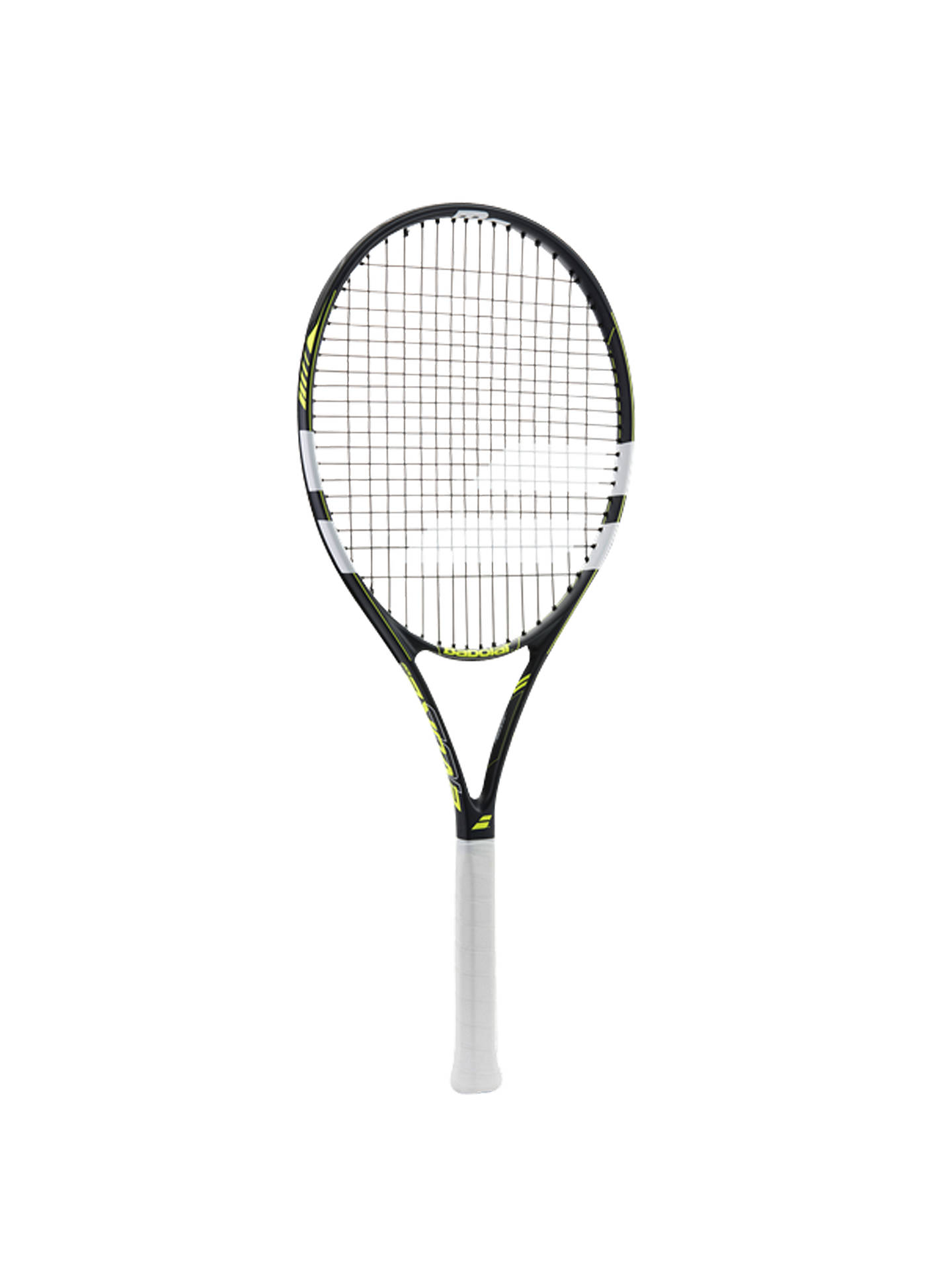 Buy Babolat Evoke 102 Aluminium Fused Graphite Beginners Tennis Racket, Grey/Yellow Online at johnlewis.com
