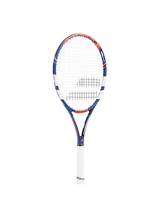 Buy Babolat Pulsion 102 Adult Beginner Aluminium Fused Graphite Tennis Racket, Blue/Red/White Online at johnlewis.com