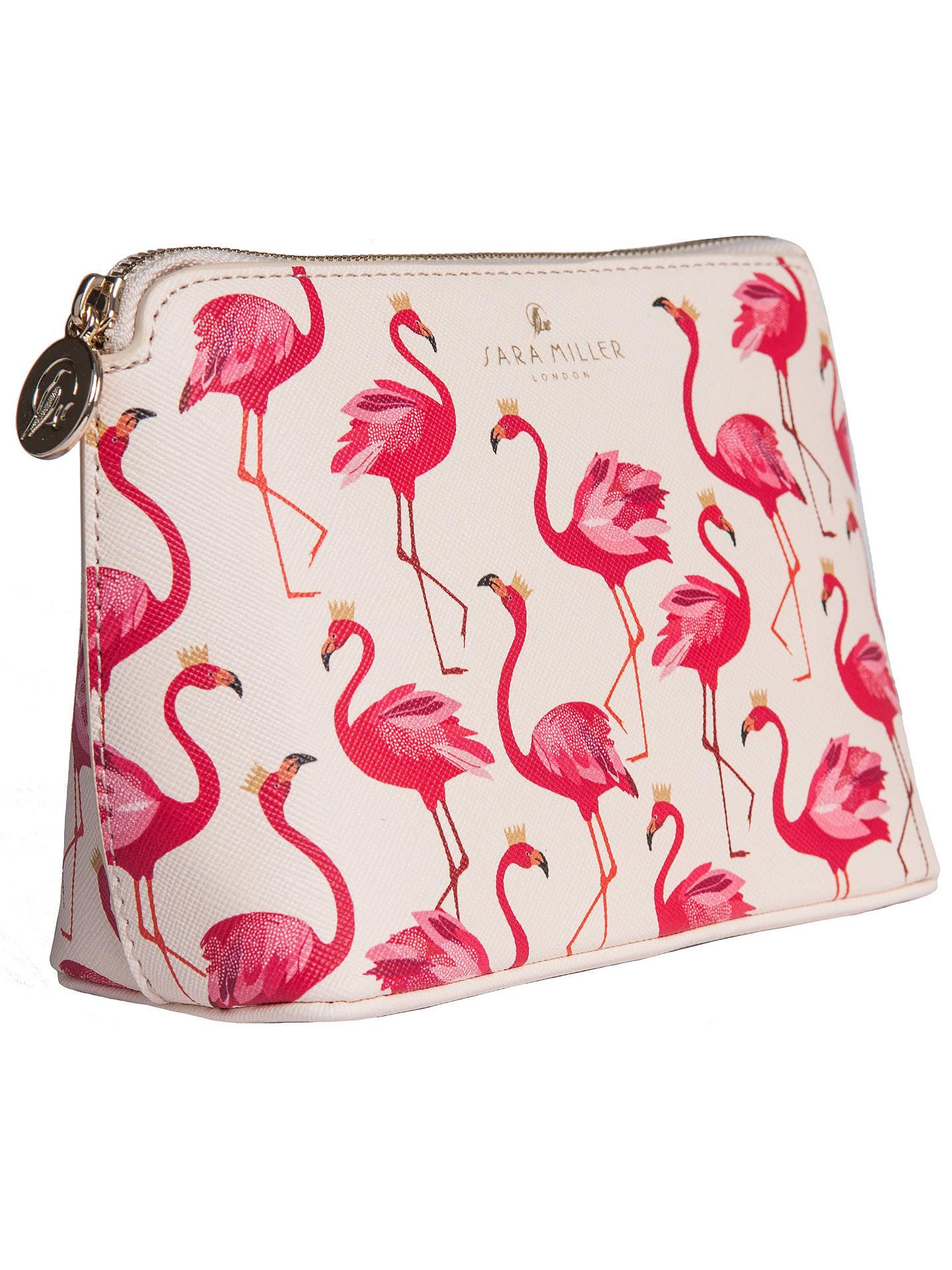 25d2cf3357a5 Sara Miller Flamingo Cosmetic Bag, Cream