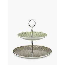 Buy Liberty Fabrics & John Lewis Lodden Flower 2 Tier Cake Stand Online at johnlewis.com