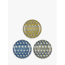 Buy Liberty Fabrics & John Lewis Caesar Tea Plates, Set of 3, Multi, Dia.17.4cm Online at johnlewis.com