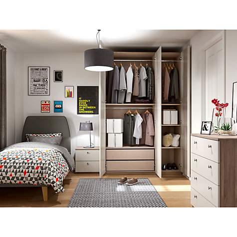 Buy House by John Lewis Mix it Bedroom Range, Gloss White/Grey Ash Online at johnlewis.com