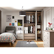 House by John Lewis Mix it Bedroom Range, House Smoke/Grey Ash