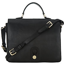 Buy Somerset by Alice Temperley Berkley Leather Satchel, Black Online at johnlewis.com