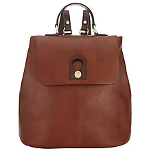 Buy Somerset by Alice Temperley Berkley Leather Backpack, Brown Online at johnlewis.com