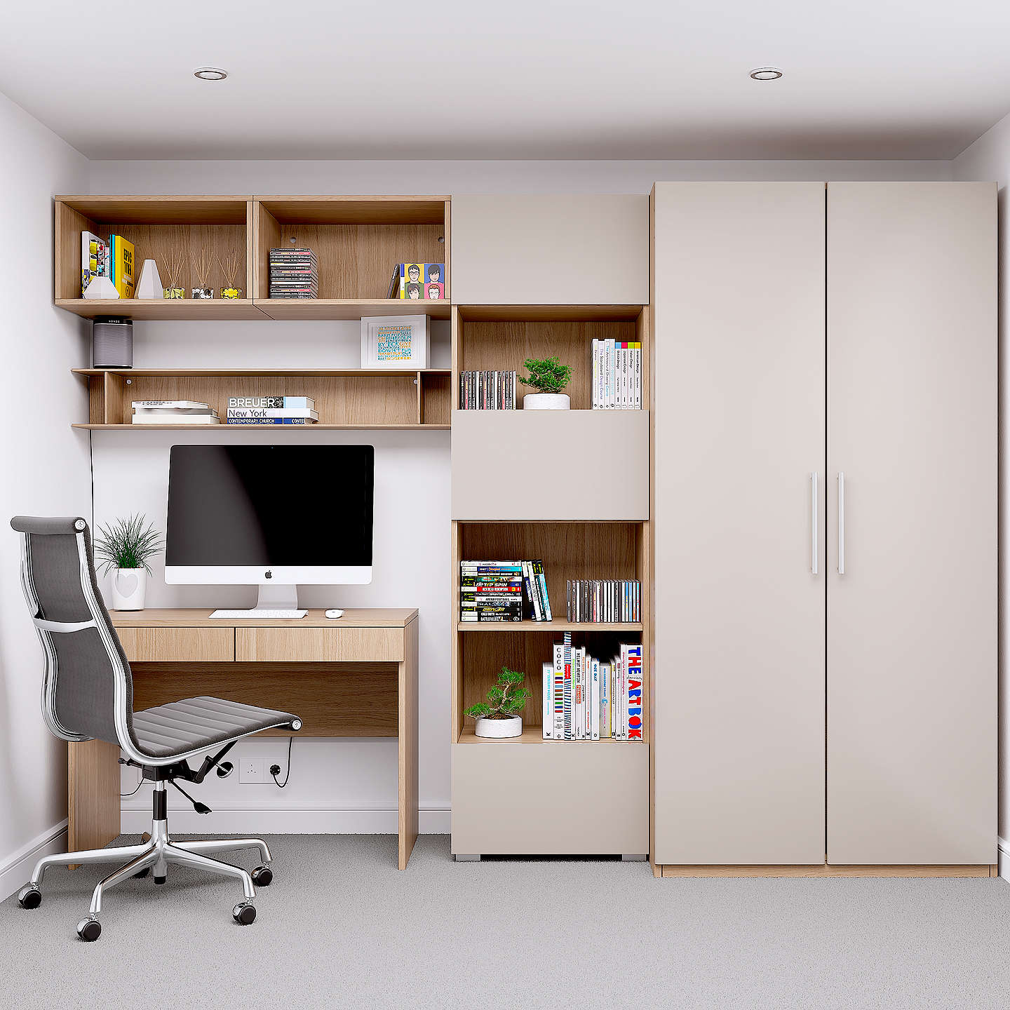 house by john lewis mix it block handle double wardrobe. Black Bedroom Furniture Sets. Home Design Ideas