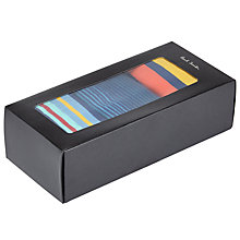 Buy Paul Smith Stripe Socks, Pack of 3, One Size, Blue/Multi Online at johnlewis.com