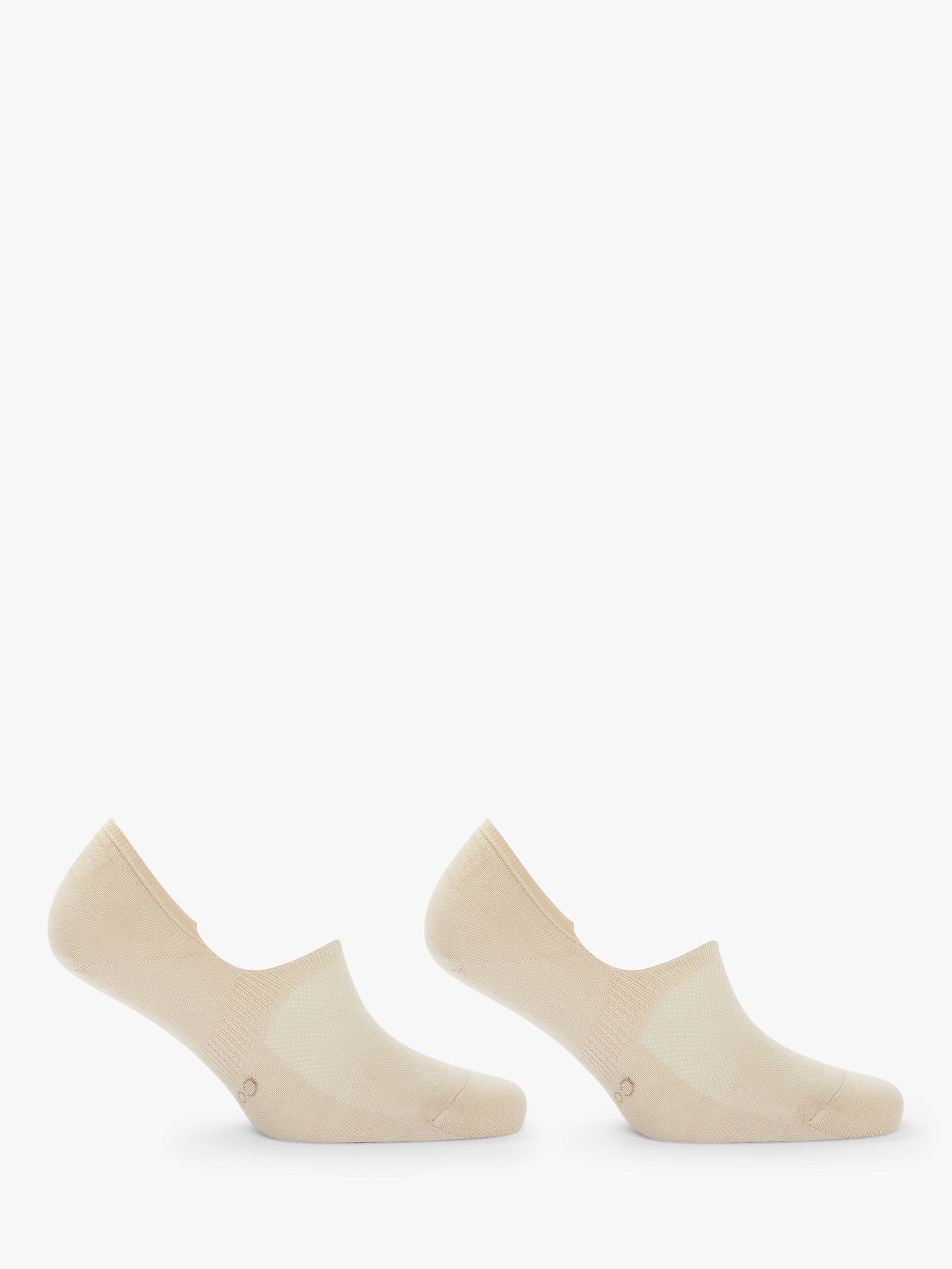 BuyCalvin Klein No Show Dress Socks, Pack of 2, One Size, Beige Online at johnlewis.com