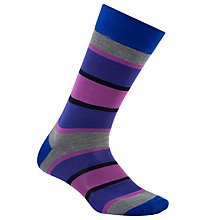 Buy Ted Baker Zanda Block Stripe Socks, One Size, Purple Online at johnlewis.com