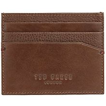 Buy Ted Baker Splitoo Contrast Leather Card Holder, Tan Online at johnlewis.com