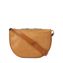 Buy Jigsaw Lua Mini Leather Across Body Bag, Natural Online at johnlewis.com