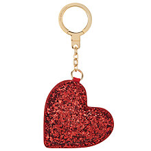 Buy kate spade new york Glitter Heart Key Ring, Red Online at johnlewis.com