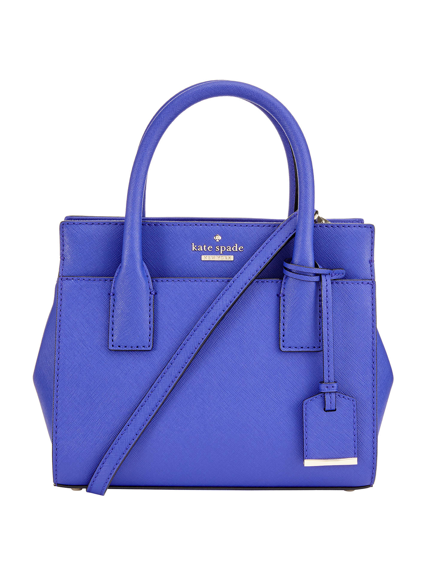 Buykate spade new york Cameron Street Mini Candace Leather Satchel, Nightlife Blue Online at johnlewis.com