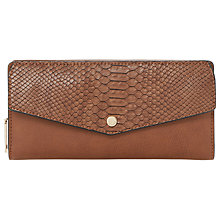 Buy Dune Kiara Metal Trim Purse, Tan Online at johnlewis.com