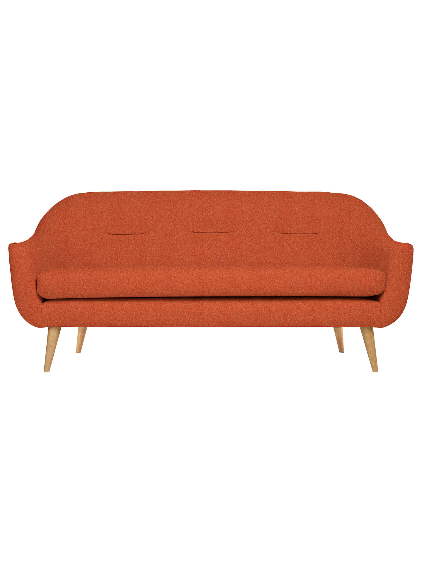 Buy Content by Terence Conran Marlowe Large 3 Seater Sofa, Rowan Orange Online at johnlewis.com
