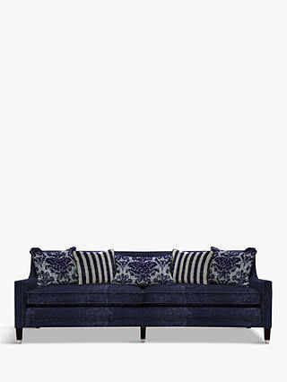 Buy Duresta Grayson Grand 4 Seater Sofa, Umber Leg, Pimlico Indigo Online at johnlewis.com