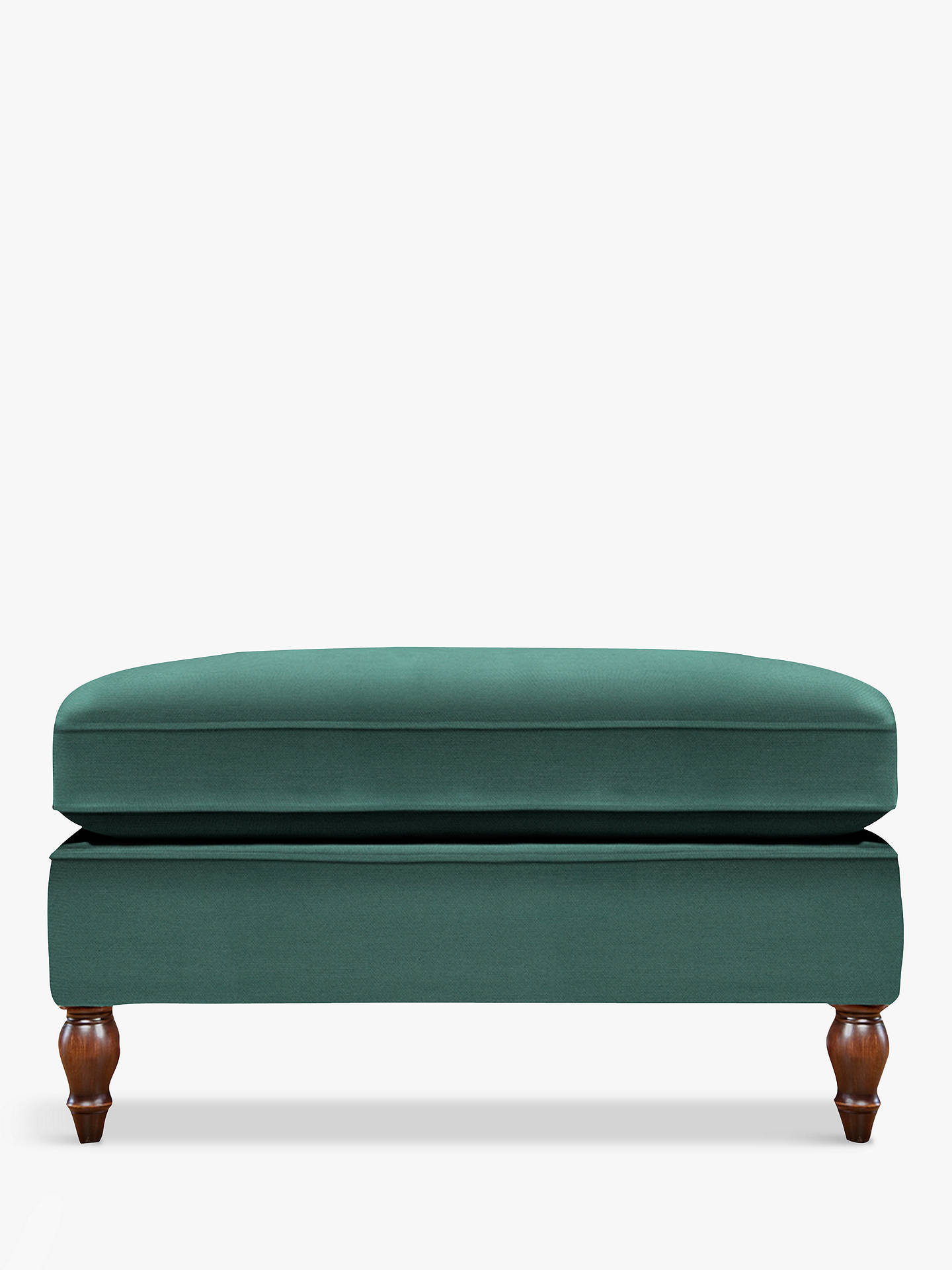 BuyDuresta Vaughan Footstool, Umber Leg, Canterbury Linen Teal Green Online at johnlewis.com