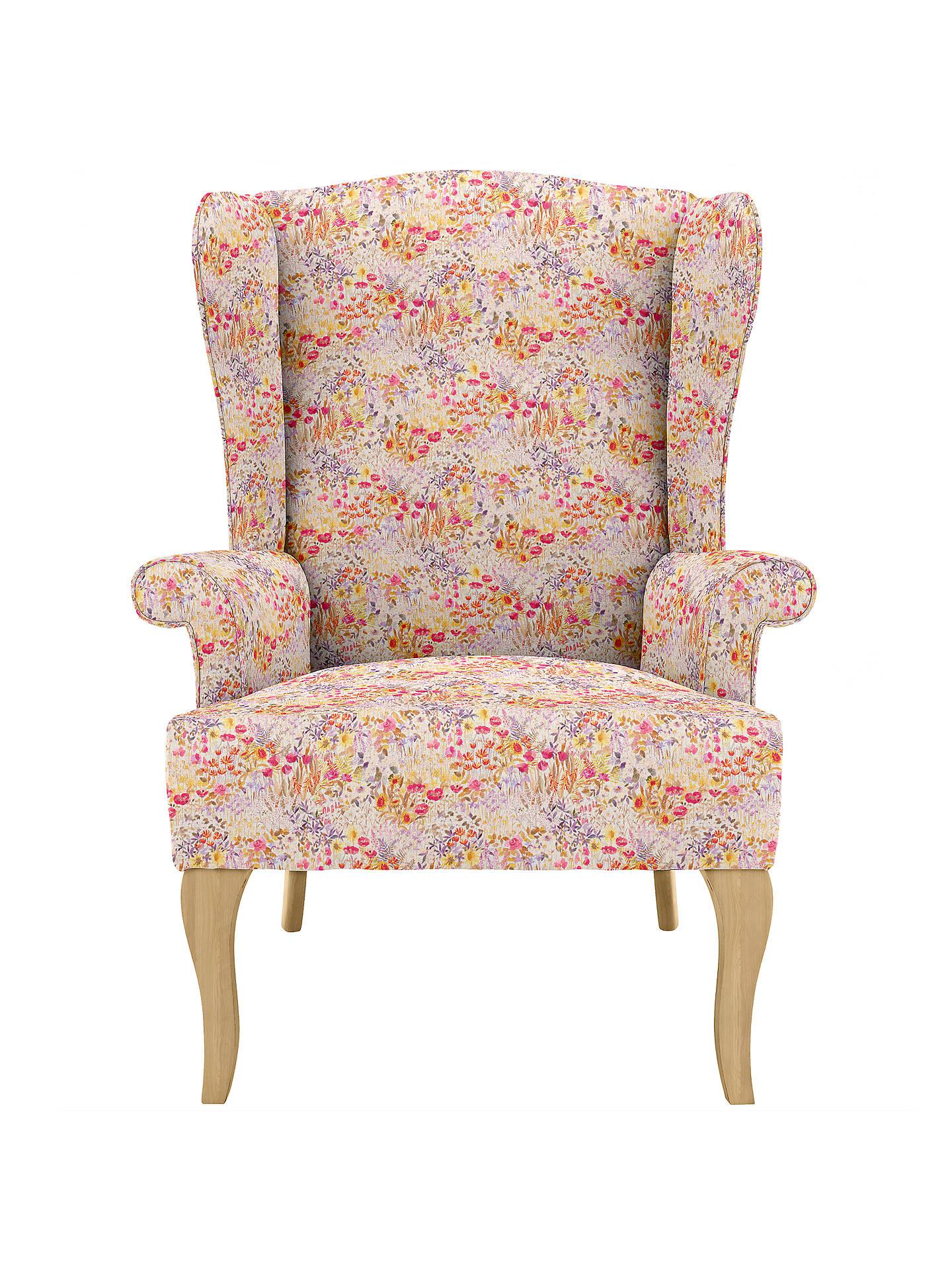 John Lewis Shaftesbury Wing Armchair In Liberty Fabric Light Leg At