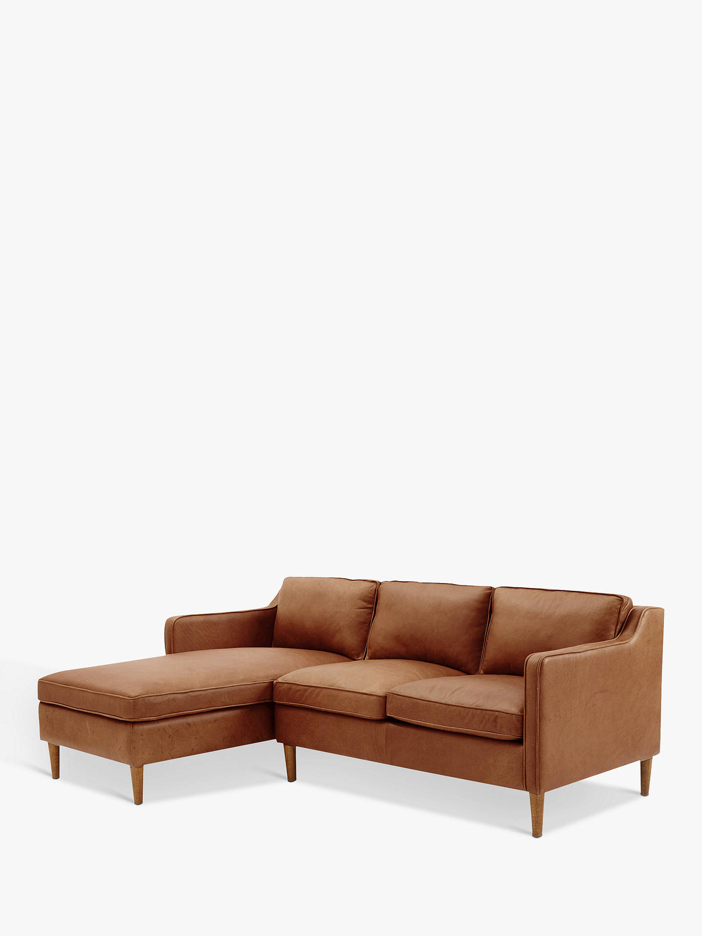 west elm Hamilton Leather Sectional Right Loveseat LHF ...