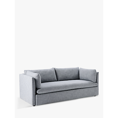 west elm Shelter 3 Seater Sofa, Linen Weave