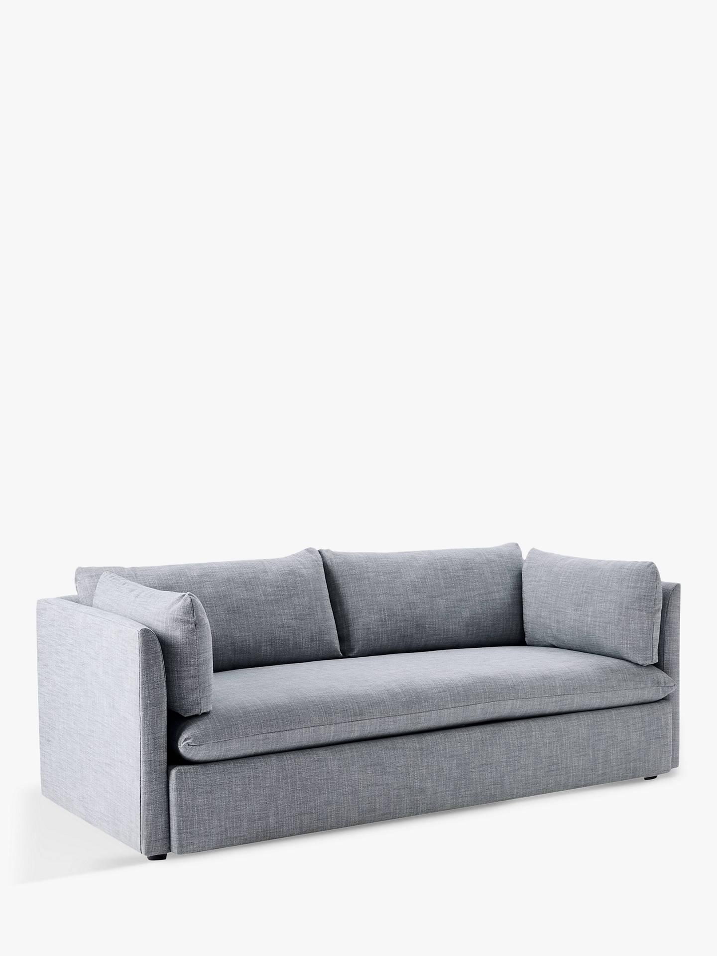 save off 4d3c3 e4100 west elm Shelter 3 Seater Sofa, Linen Weave