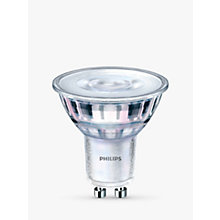 Buy Philips 5.5W GU10 LED Dimmable Light Bulb, Cool White Online at johnlewis.com