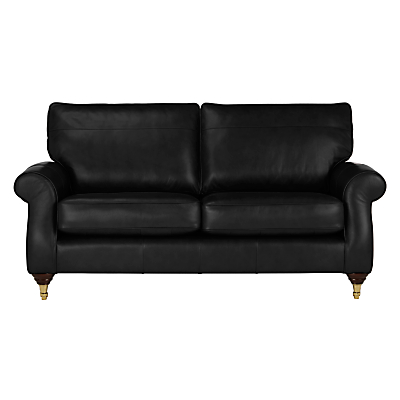 John Lewis Hannah Large 3 Seater Leather Sofa, Castor Leg