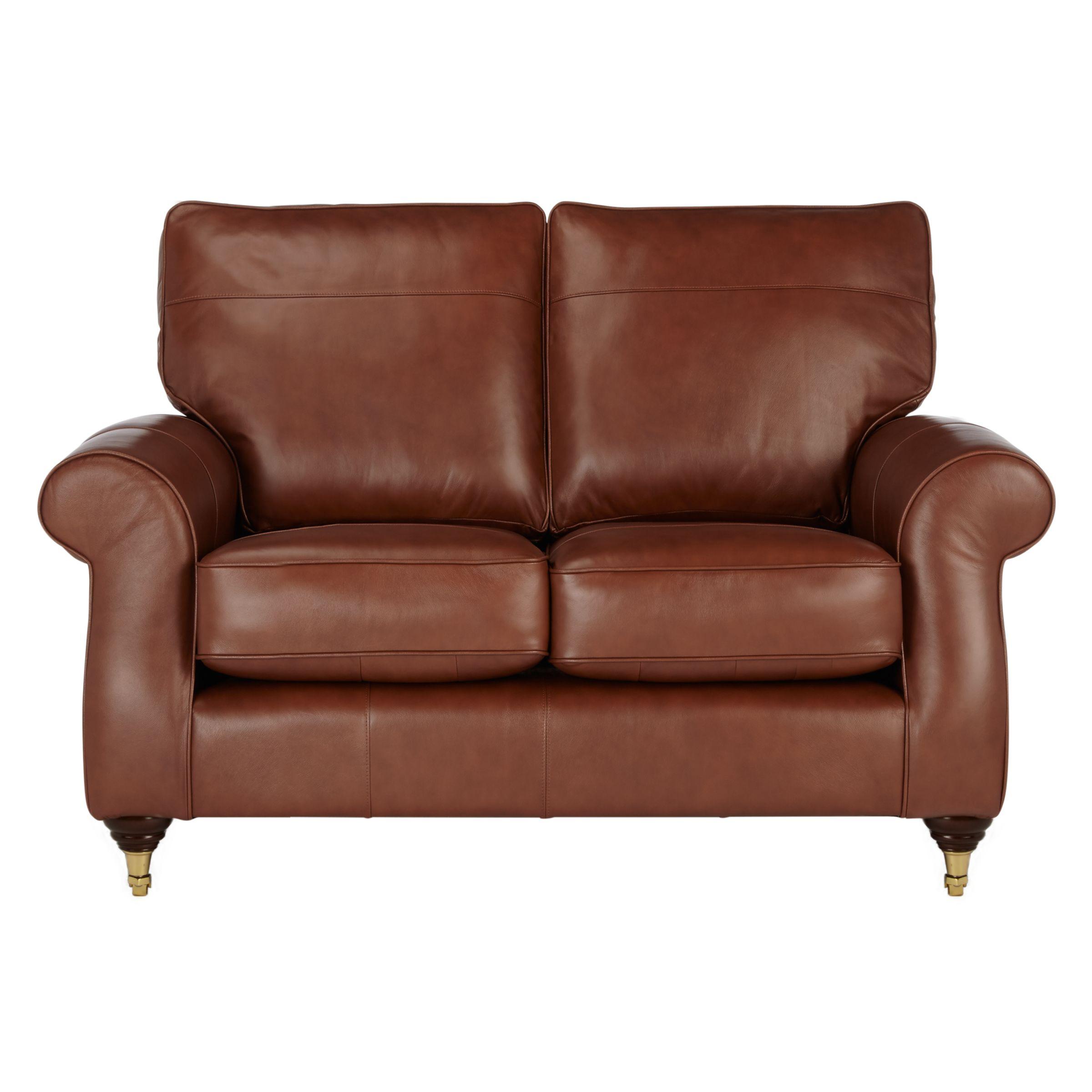 - John Lewis Hannah Small 2 Seater Leather Sofa, Castor Leg At John
